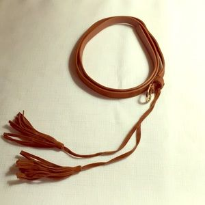 Accessories - Thin Suede Belt w/Fringe